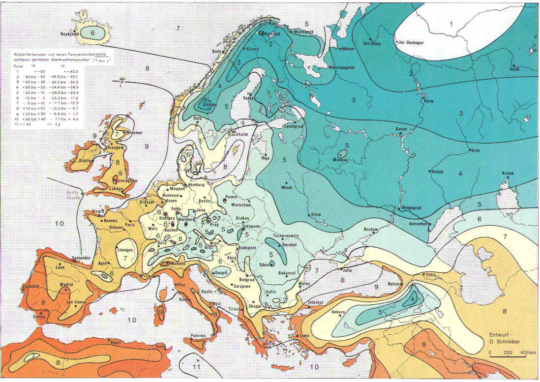 carte usda zones climatiques europe